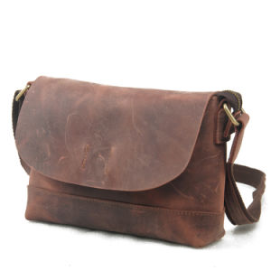 Fashion Man′s Genuine Leather Leisure Shoulder Bag (RS-507) pictures & photos