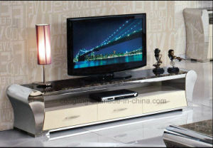 CT8054 Hot Selling High Gloss TV Stand with White Drawer pictures & photos