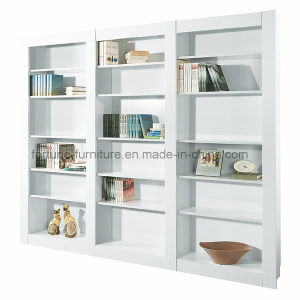 Modern Wooden UV High Gloss White Bookcase Unit (7905102)