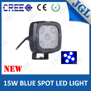 CREE LED Spot Warning Light Blue 4D Optic Lens 15W
