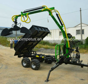 Hot Selling 3 Ton Log Trailier with Crane for UTV pictures & photos