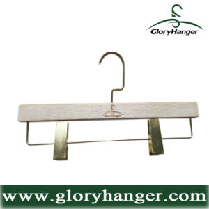 Deluxe Brand Pants Hanger with Gloden Clips--Clothes Store Fixture (GLWP208) pictures & photos