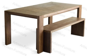 Custom Made Round Rectangle Modern Wooden Dining Table for Hotel Dining Room Furniture (JP-T-004)