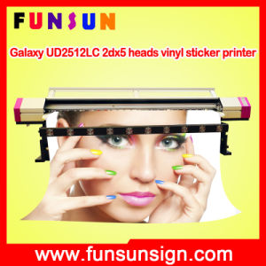 Galaxy Ud2512LC 2dx5 Heads Large Format Eco Solvent Printer (2.5m/8FT, cmyk 4 colors, 1440dpi, for vinyl stickers) pictures & photos