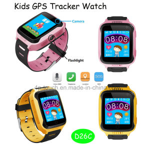 Safety Portable Chlid/Kids GPS Tracker Watch with SIM Card-Slot D26c pictures & photos
