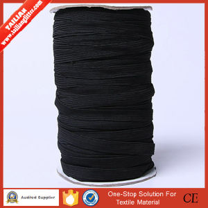 2016 Tailian Wholesale 12 Cords Black Webbing Elastic Tape pictures & photos