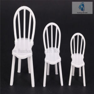 1: 30 Die Cast Outdoor White Plastic Model Chair for Landscape Layout
