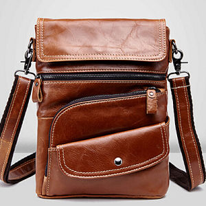 China Designer Leather Bags Cheap Man Shoulder Bag (M3117) - China ...