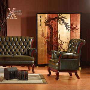 Antique Leather Sofa Set (S9) pictures & photos
