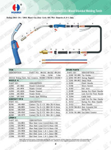 Hrmb25ak Air Cooled MIG Welding Torch for Welding Machine pictures & photos