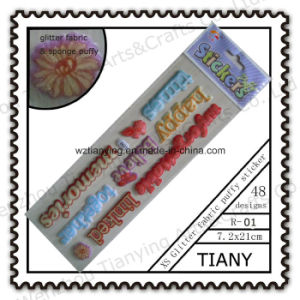 Colorful Alphabet 3D Puffy Stickers R01