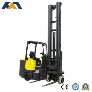 Electric Battery Operated Forklift, Four-Wheel Electric Forklift Truck pictures & photos
