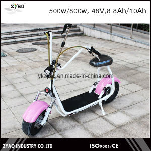 2016 Fashion Wide Tire Electric Scooter Small Size 800W 48V 10ah City Coco pictures & photos
