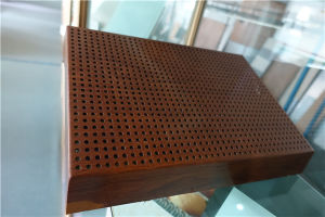Perforated Wood Color Aluminum Honeycomb Panels pictures & photos
