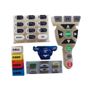 Precision Silk Screen Printing PU Coated Silicone Rubber Keypad of Remote Controller for Stereo Equipment pictures & photos