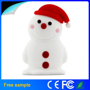 Christmas Decoration Portable Rubber Full Capacity Snowman Flash Drive