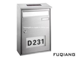 Fq-182 Wall Mounted Stainless Steel Solar Mailbox with House Numbers Light Address Numbers Doorplate pictures & photos