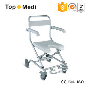 Topmedi Hot Sale Aluminum Bath Bench Shower Chair with Wheels pictures & photos