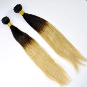 Brazilian Virgin Hair Straight Ombre Human Hair Weft pictures & photos