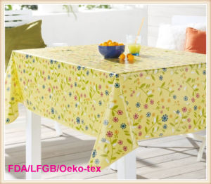 PVC Two-Layer Printed Tablecloth (TT0102A) pictures & photos