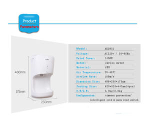 Hygiene Bathroom Product High Speed Hand Dryer (AK2630) pictures & photos