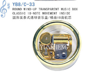 Round Wind-up Transparent Music Box (Yb8/C-33) E pictures & photos