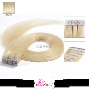 Best Quality Brazilian Human Hair Tape Hair Extension pictures & photos