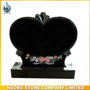 Black Granite Headstone Heart Shaped pictures & photos