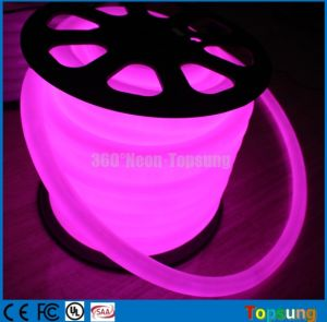 24V 360 Degree Round Purple Color Decoration LED Neon Flex
