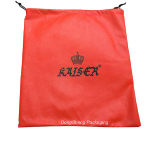 Fancy Orange Non-Woven Fabric Gift Shopping Bag