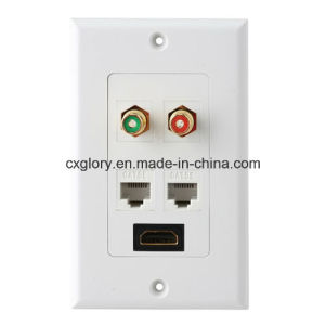 High Quality RJ45 RCA HDMI Face Plate pictures & photos