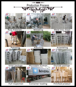 White Metal Steel Aluminum Hotel Chiavari Tiffany Wedding Chair pictures & photos