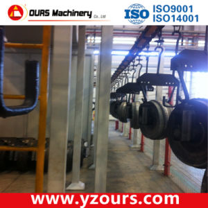 Steel Plate Painting Line with Shot Blasting Machine pictures & photos