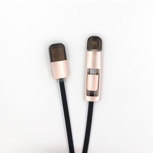 New Design 2 in 1 Micro USB Cable for iPhone and for Samsung
