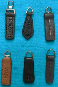 Black and Brown Customized Leather Zipper Slider pictures & photos