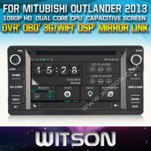 Witson Car DVD Player with GPS for Mitubishi Outlander 2013 (W2-D8844Z) Steering Wheel Control Front DVR Capactive Screen pictures & photos