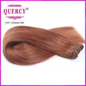 Dark Brown Hair Colored Peruvian Straight Hair Weave 100% Human Hair pictures & photos