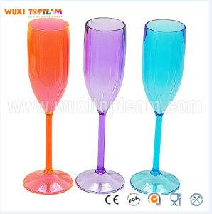 6 Oz Plastic Neon Champagne Glass