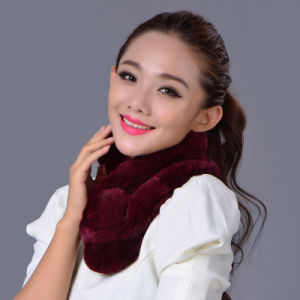 Lady Fashion Rex Rabbit Fur Winter Scarf (YKY4361) pictures & photos