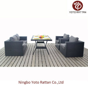 Table Sofa Set in Black for Outdoor (1307) pictures & photos