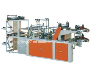 Double Lines Vest Rolling Bag Making Machine with SGS Approval pictures & photos