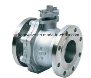 Cast Steel Flanged End 2PC Floating Ball Valve pictures & photos