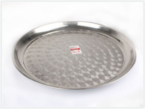 12/14/20 Inches Thai Style Flower Stainless Steel Round Plate pictures & photos
