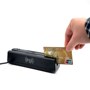 Sh160 USB 3tracks Magnetic Stripe Card Reader, RFID Card Reader, IC EMV Chip Card Reader Writer/Encoder