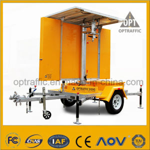Optraffic Solar Powered Mobile LED Traffic Road Sign Vms Trailer pictures & photos