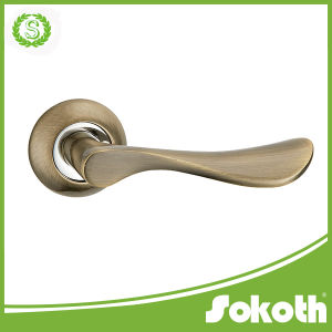 China Interior Lever Door Handle Supplier Simple Style Zink Door Handle pictures & photos