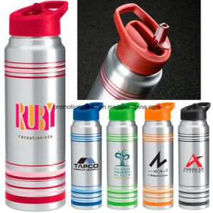 28 Oz Striped Aluminum Water Bottle pictures & photos