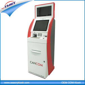 Customized Multifunction Dual Screen Ticket Vending Information Kiosk pictures & photos