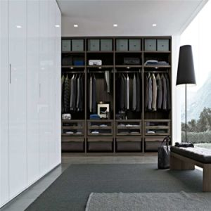 Linear Shaped Melamine MDF Wardrobe
