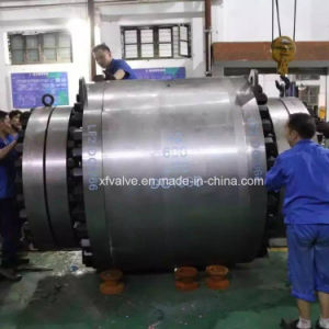 600lb Forged Steel Big Size Fixed Flange End Ball Valve pictures & photos